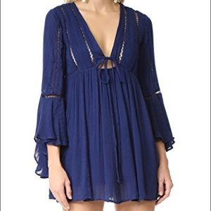 Free People Romeo Blue Mini Dress